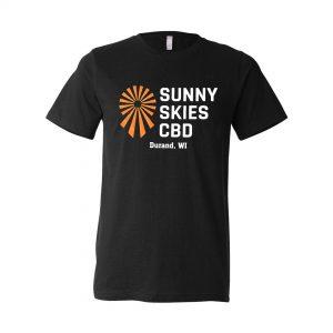Sunny Skies Black CBD T Shirt