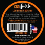 cbd isolate label