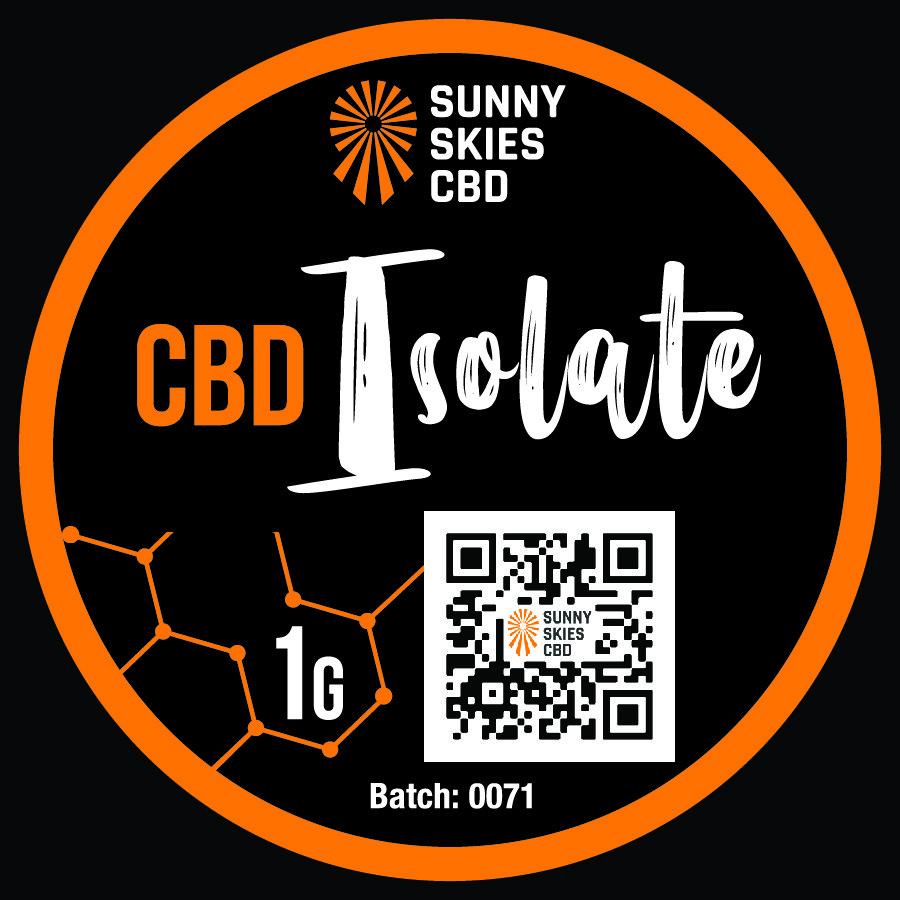 cbd isolate top label