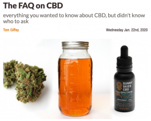 The FAQ on CBD
