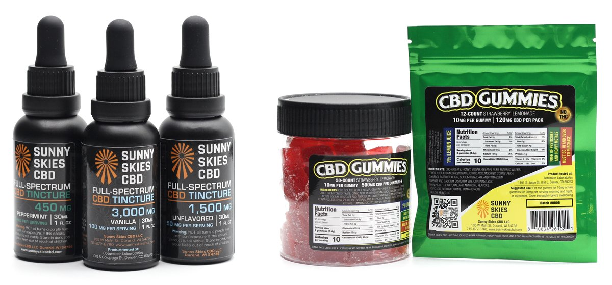 CBD Tinctures and Edibles