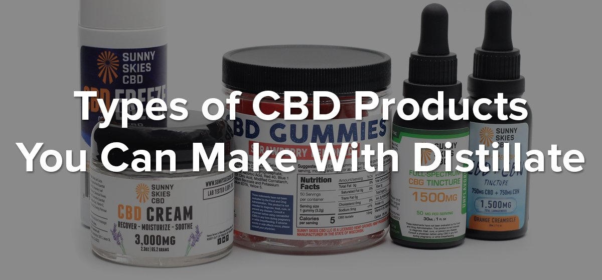 cbd products made from distillate blog