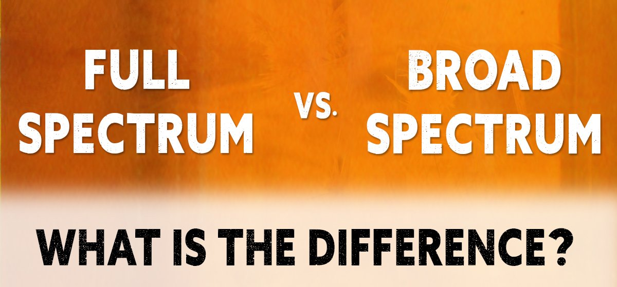 Full spectrum vs broad spectrum cbd