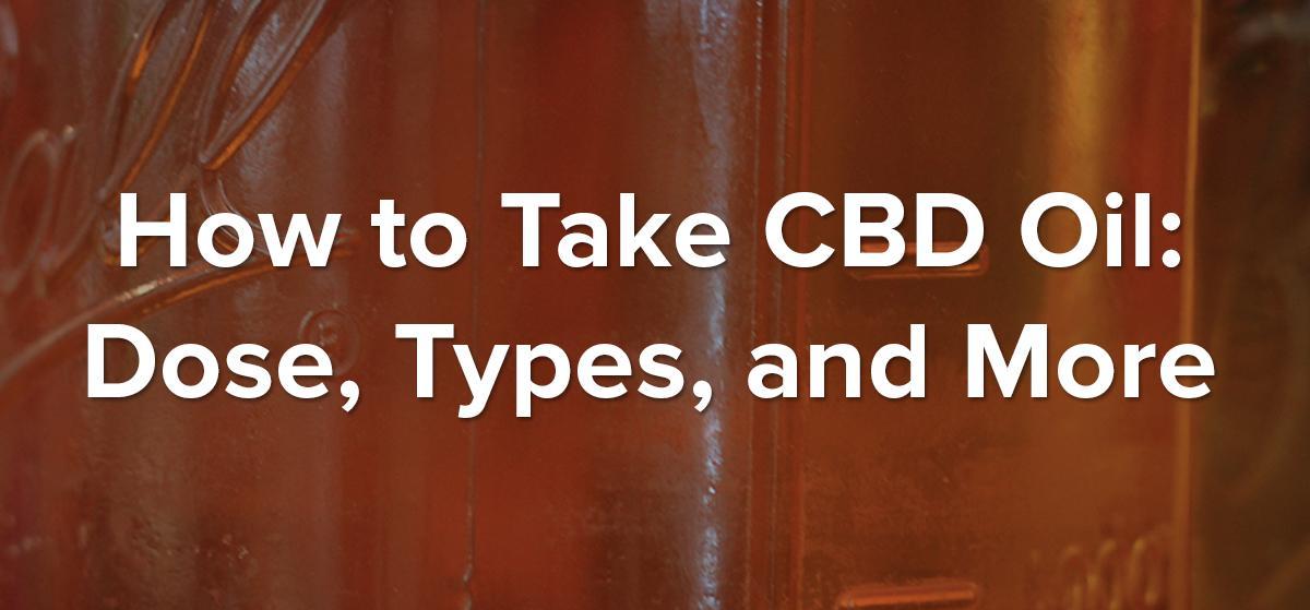 How To Take CBD