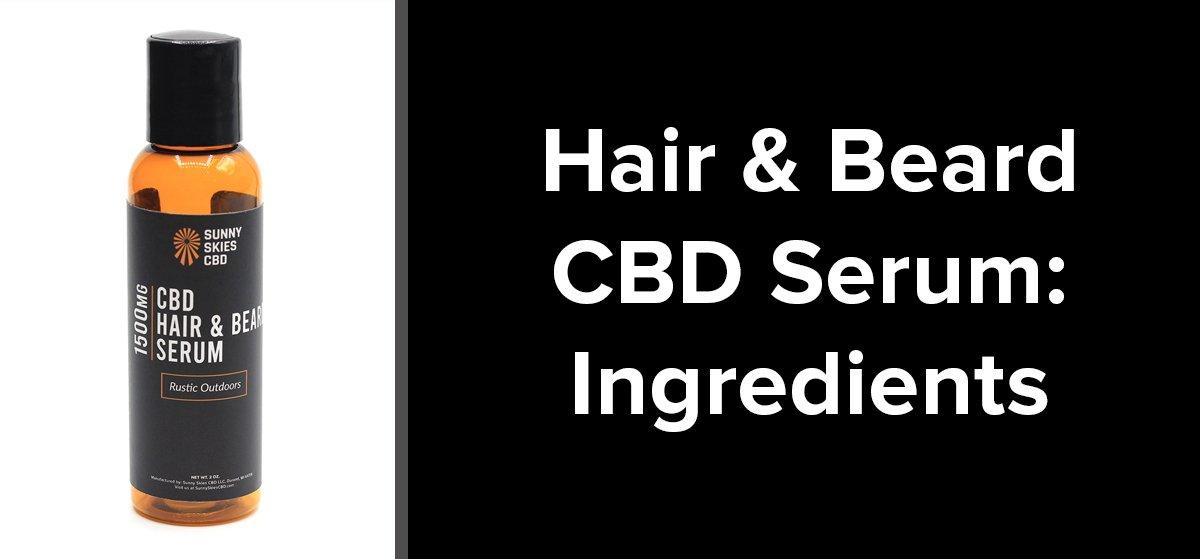 CBD Hair Beard Serum Ingredients