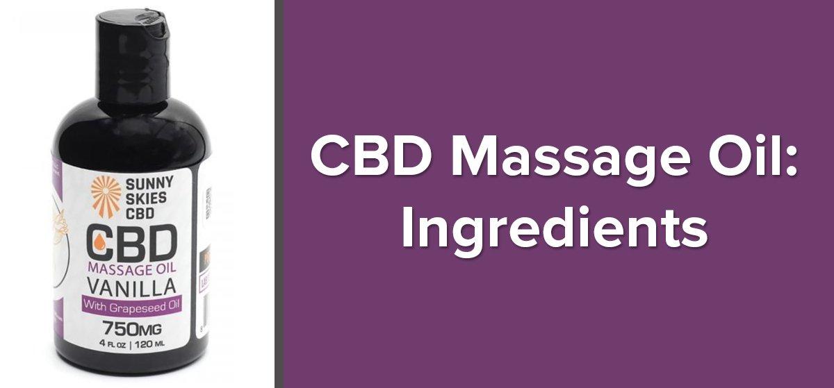 CBD Massage Oil Ingredients