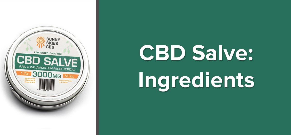 CBD Salve Ingredients
